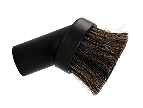 Round Dusting Brush Soft Horsehair Bristle Vacuum Attachment